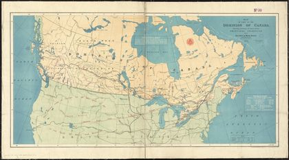 Canada's colour map of Canada's railways in 1878