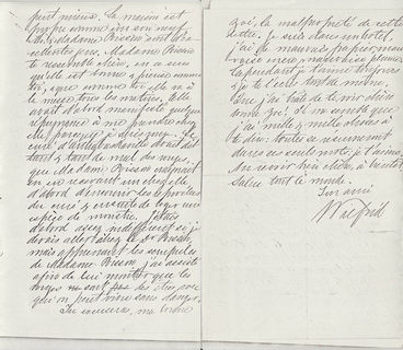 Pages 2 and 3 of a handwritten letter, part of the large amount of correspondence between the couple.